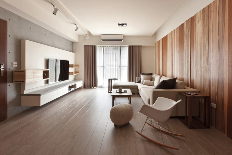 Taiwanese Apartment Interior Design With a Wooden Accent Decor ...