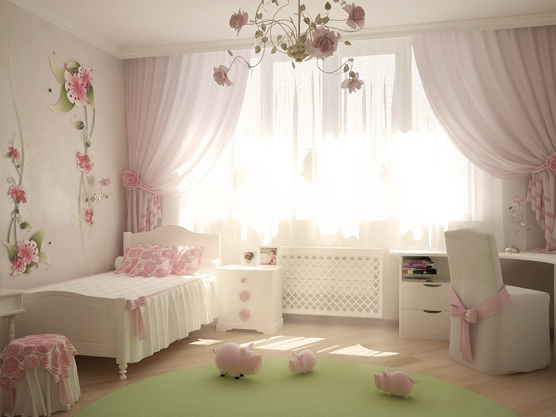 Bedroom paint ideas pink and white