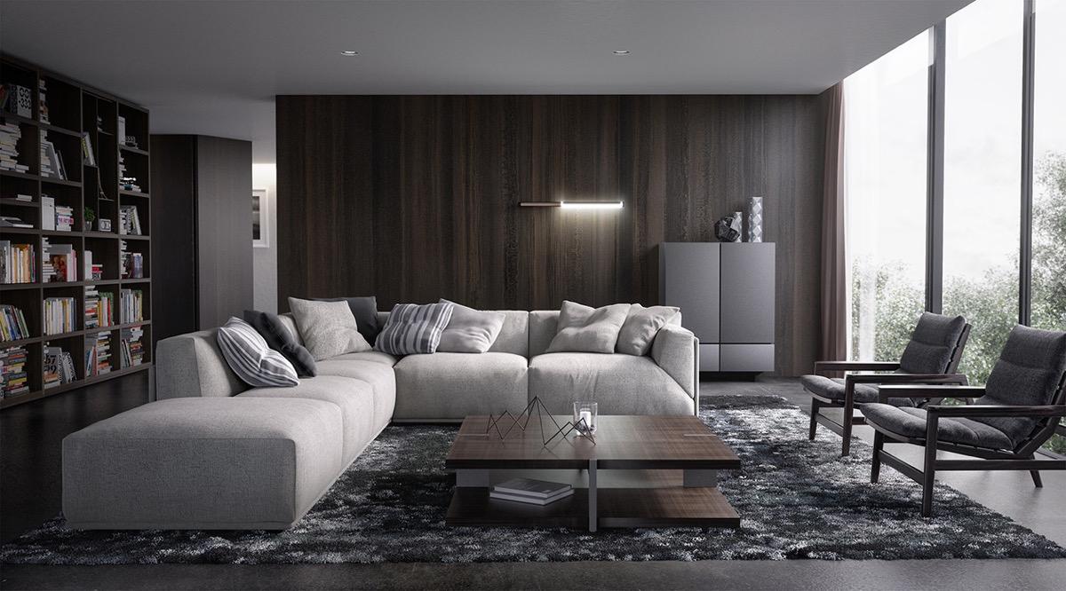 Monochrome Living Room Decorating 15 Dark Living Room Decorating Ideas Roohome Designs Plans