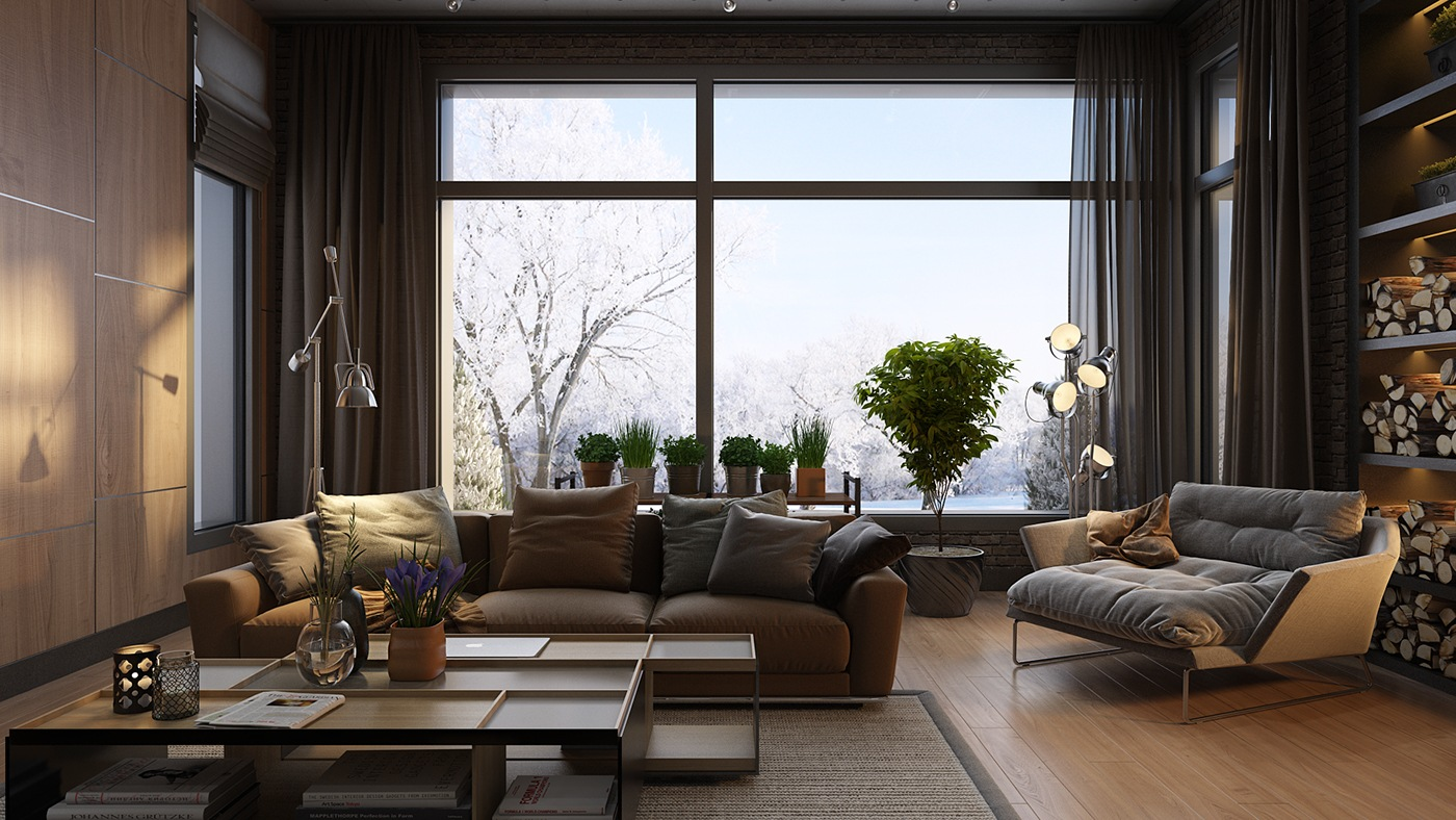 15 Dark Living Room Decorating Ideas Arranged With Charming Designs ...
