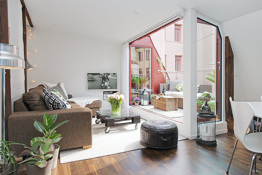 Amazing Urban Apartment Design Style With Beautiful Terrace Roohome With Beautiful  Apartment Design