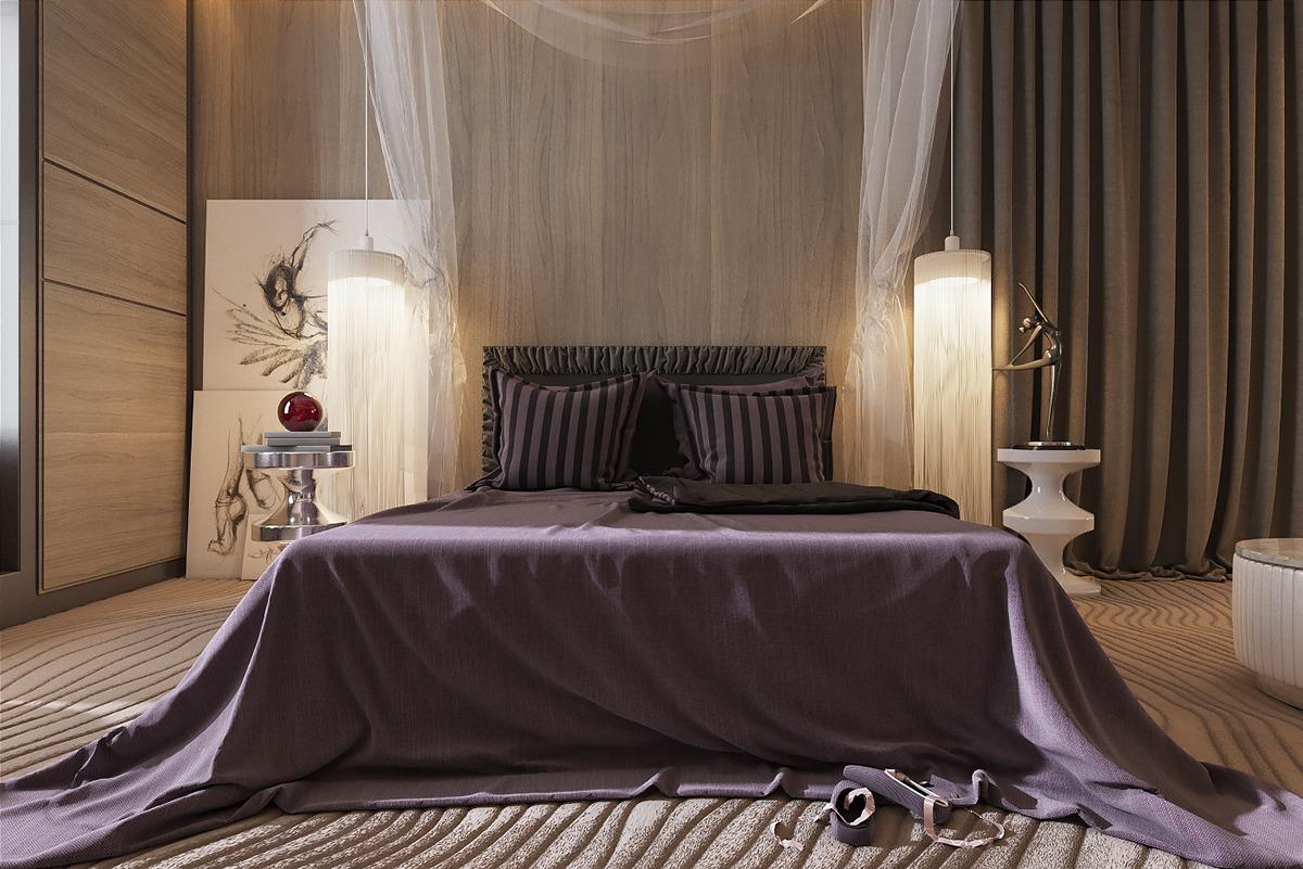 Dzhemesyuk U0026 Yurov Design Dark Bedroom Ideas