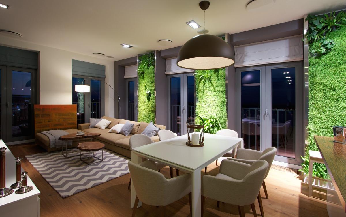 Natural Apartment Interior Design With Beautiful Indoor Gardening ...