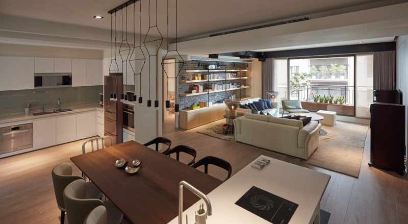 Brilliant Apartment Interior Design For Fashion Designer