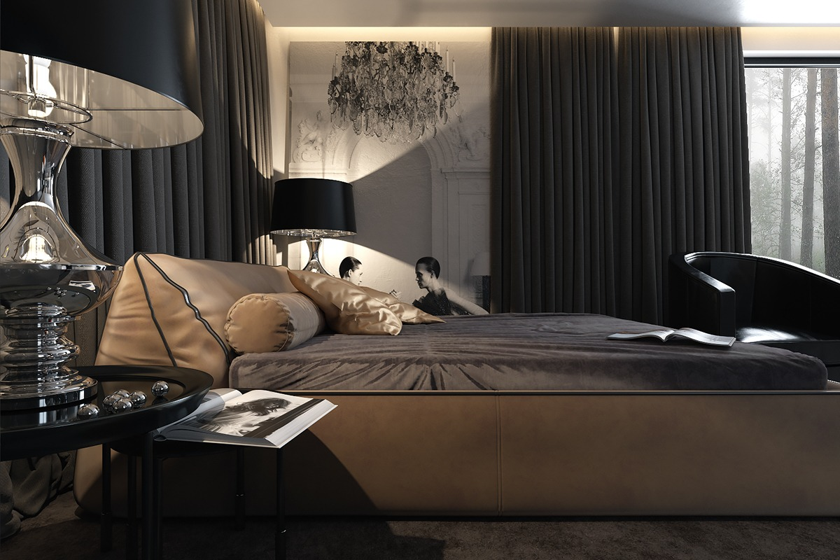 dzhemesyuk yurov design dark bedroom ideas