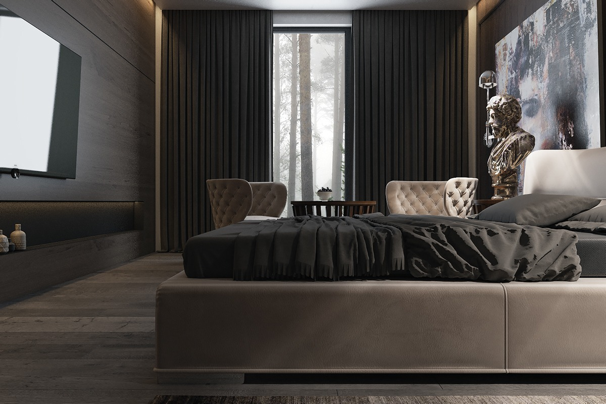 3 Amazing Dark Bedroom Interior Design RooHome Designs