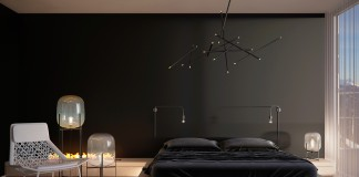 black minimalist bedroom design