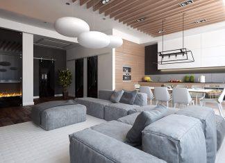 simple minimalist open plan decor