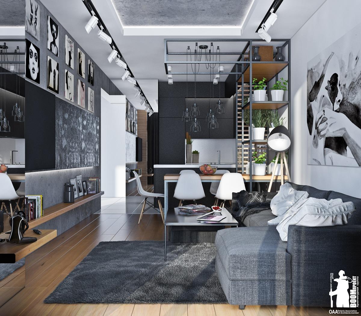 Monochrome living room color