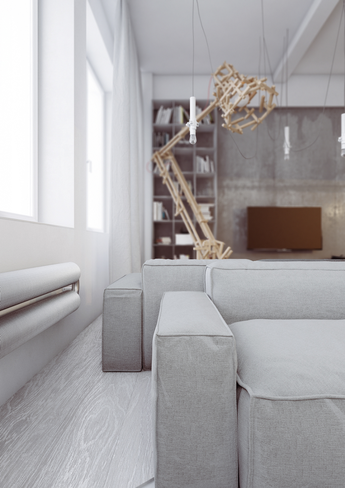 White apartment design
