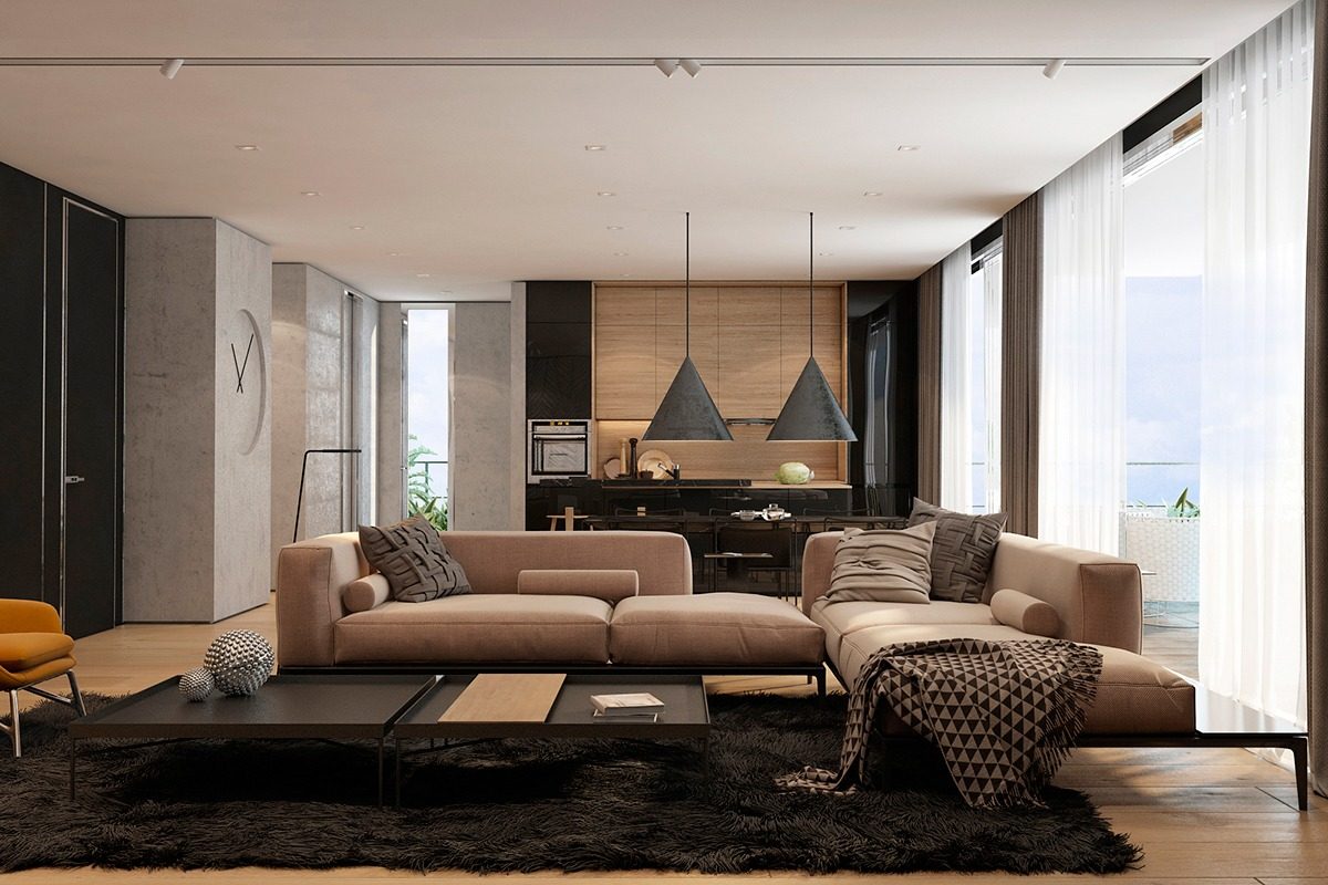 Modern Apartment Design Ideas modern apartment design ideas with the soft and sleek texture
