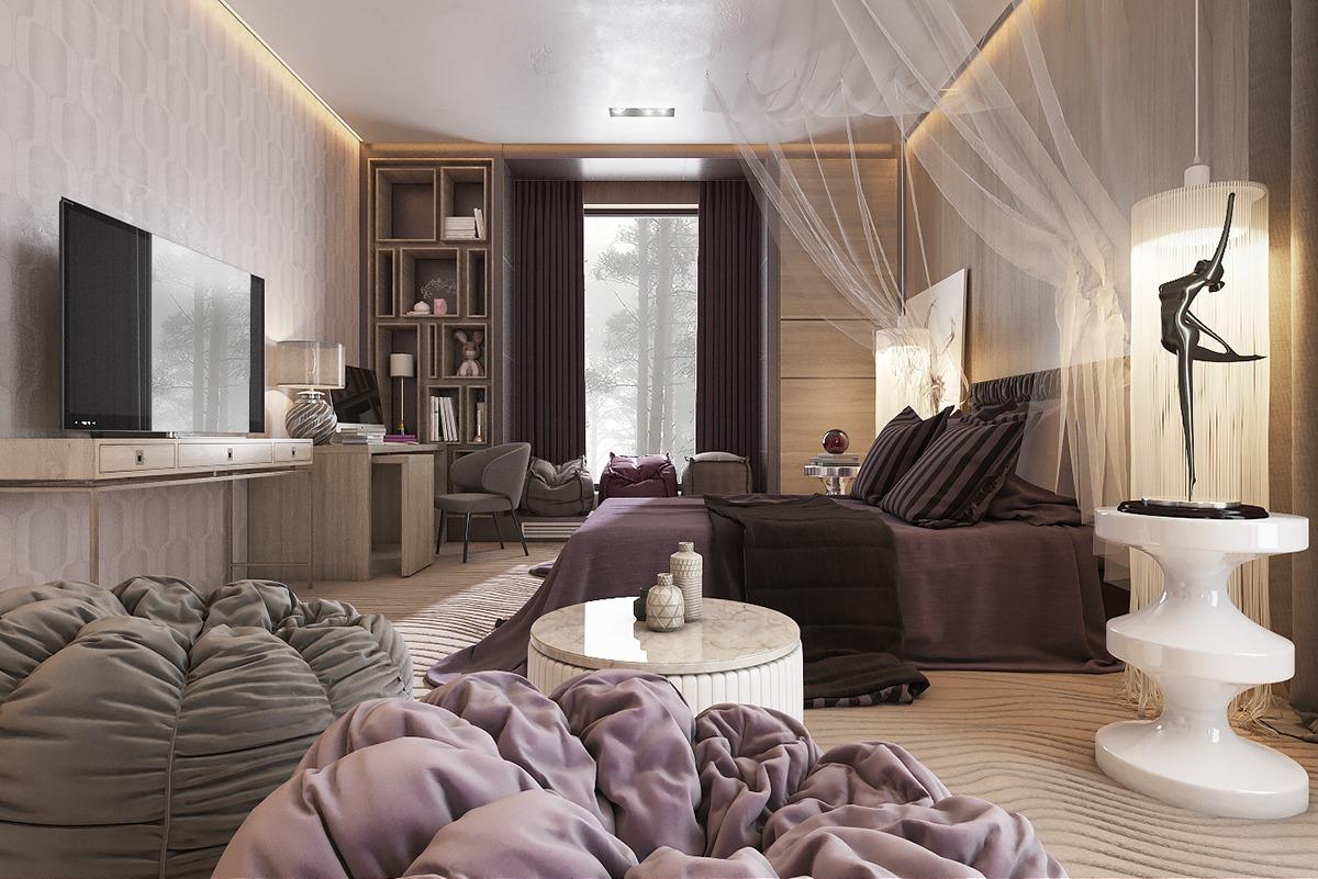 3 Amazing Dark Bedroom Interior Design - RooHome