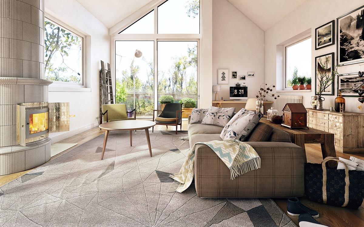 Traditional Living Room U0026copy: Koj Design