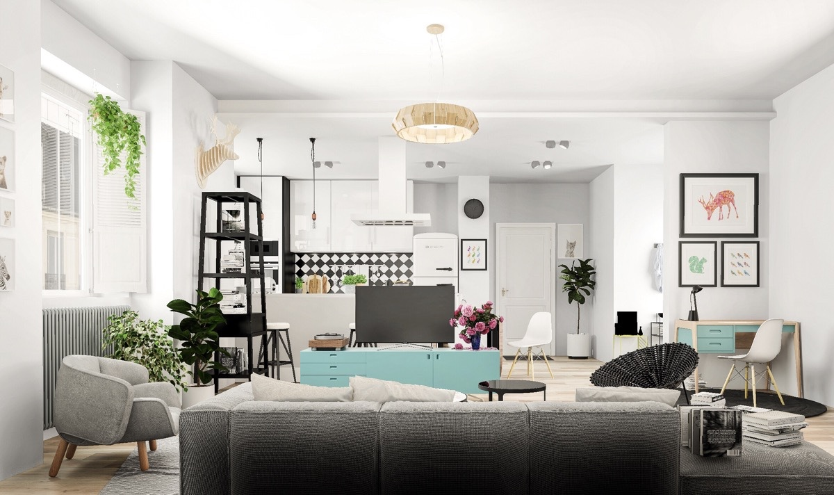 Nordic Living Room Interior Design Bring Out a Cheerful Impression ...