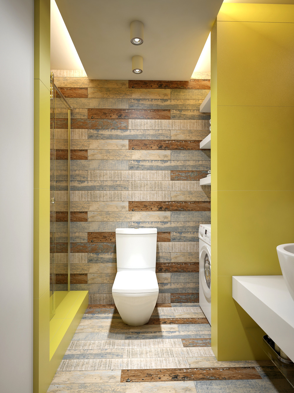 yellow bathroom themes
