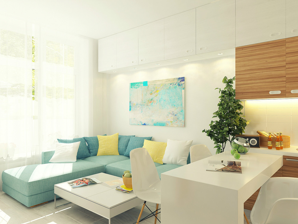 Stylish Small Apartment Design Painting Ideas by Using Pastel Color ...