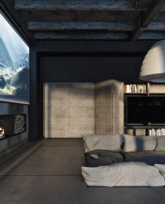 Dark apartment decorating ideas
