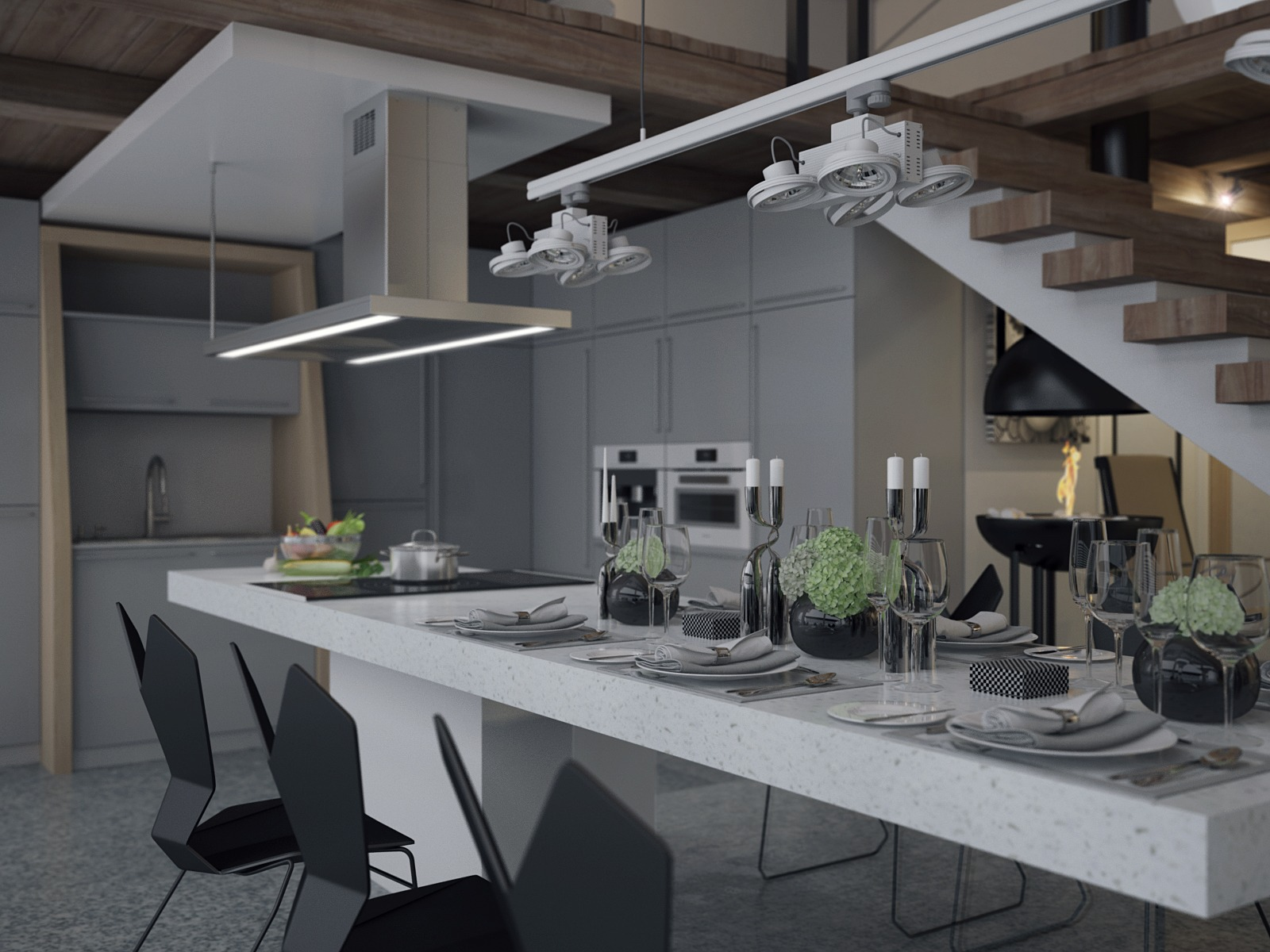 Unique black and white dining room decorating ideas