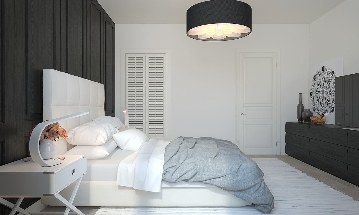 Scandinavian bedroom design style