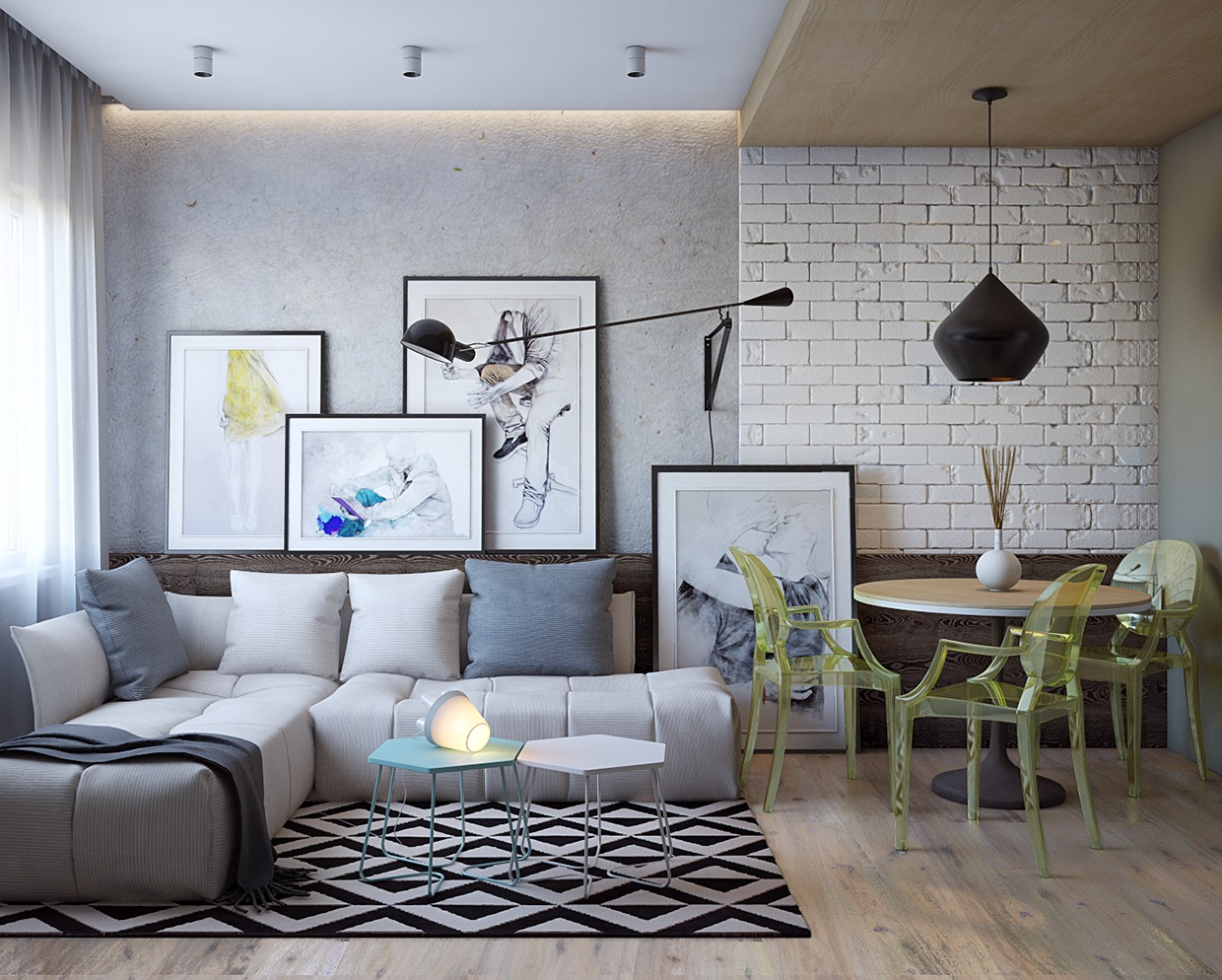 Living Room Apartment Design Super Tiny Apartment Design Ideas With A Great Layout Roohome