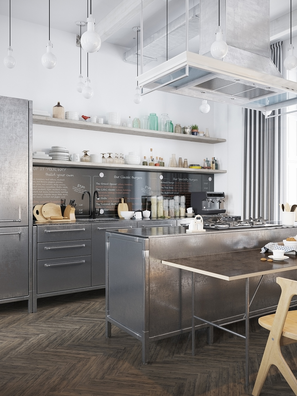 Scandinavian kitchen interior design style