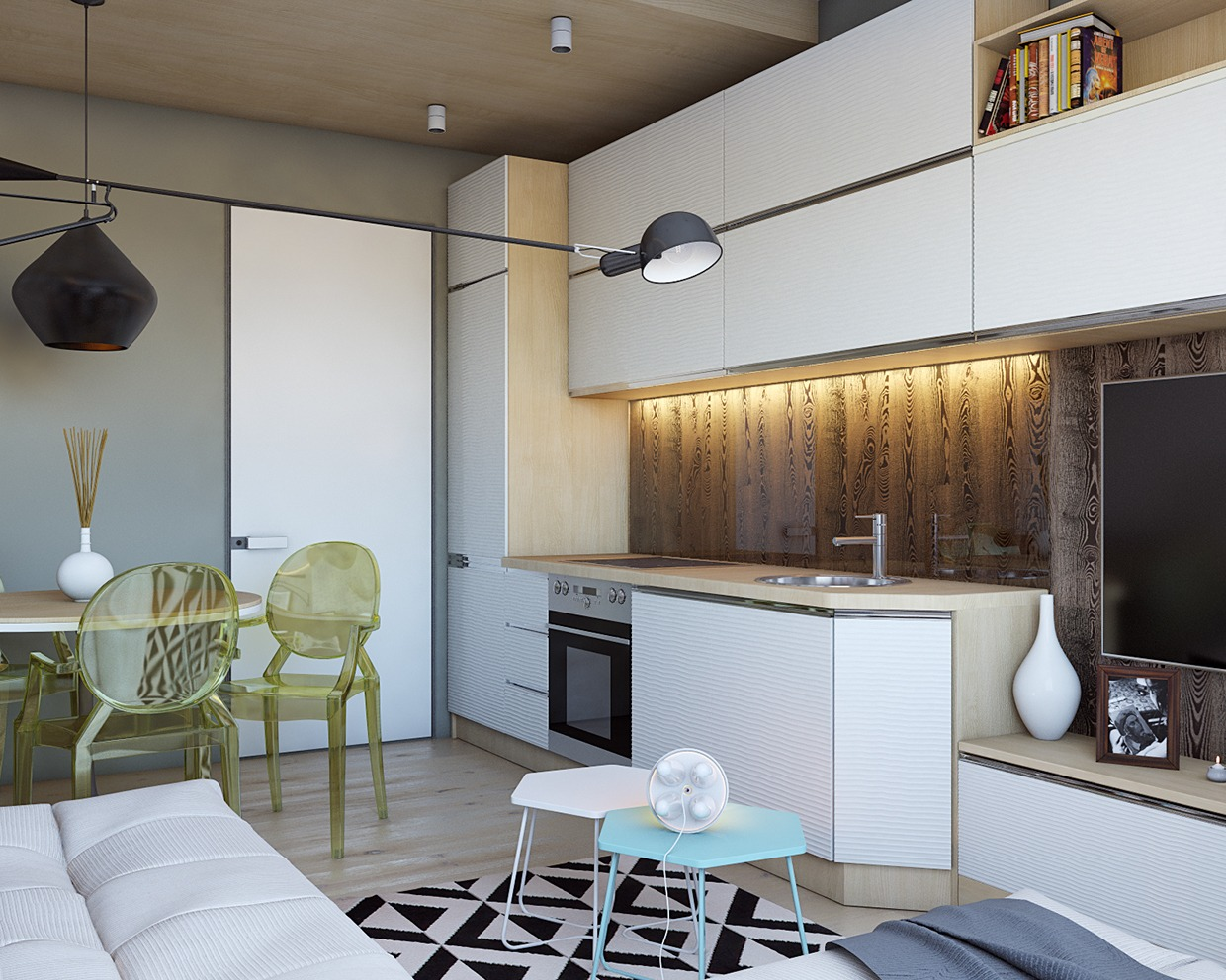 Super tiny apartment design ideas