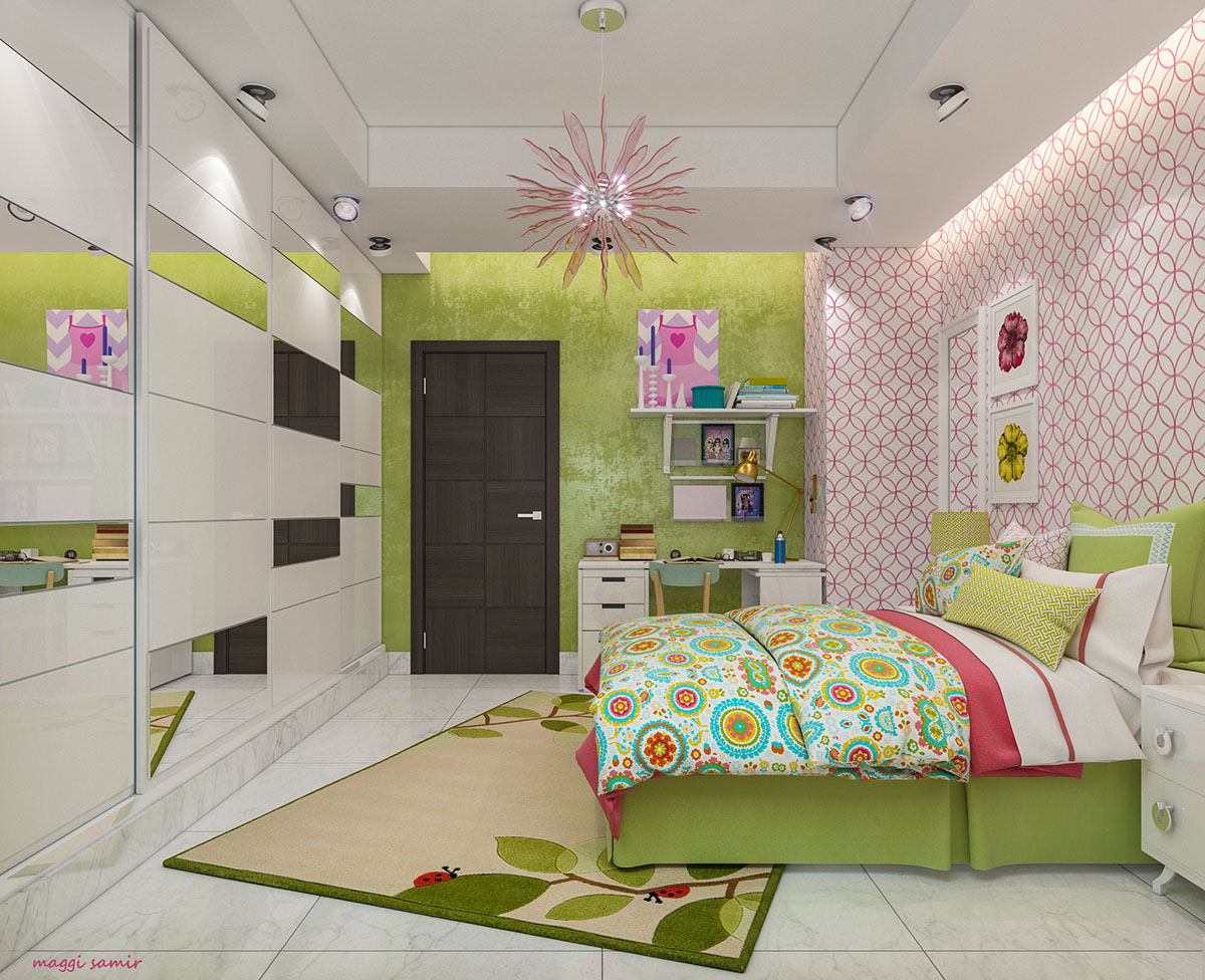 Girl's room decorating idea