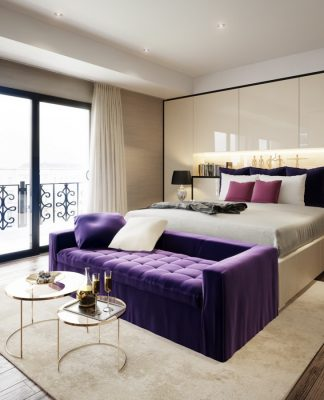 Soft bedroom design for girl