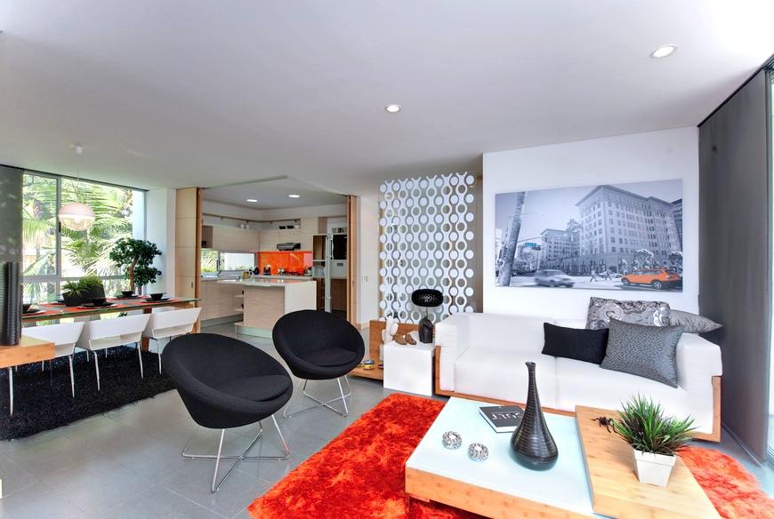 Orange apartment decorating ideas