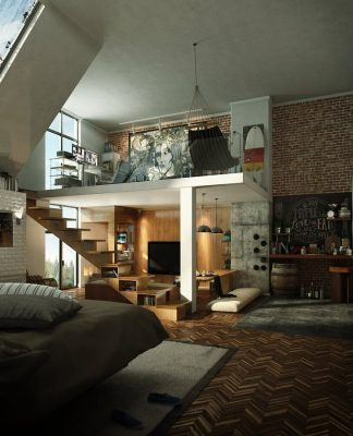 Loft apartment interior design