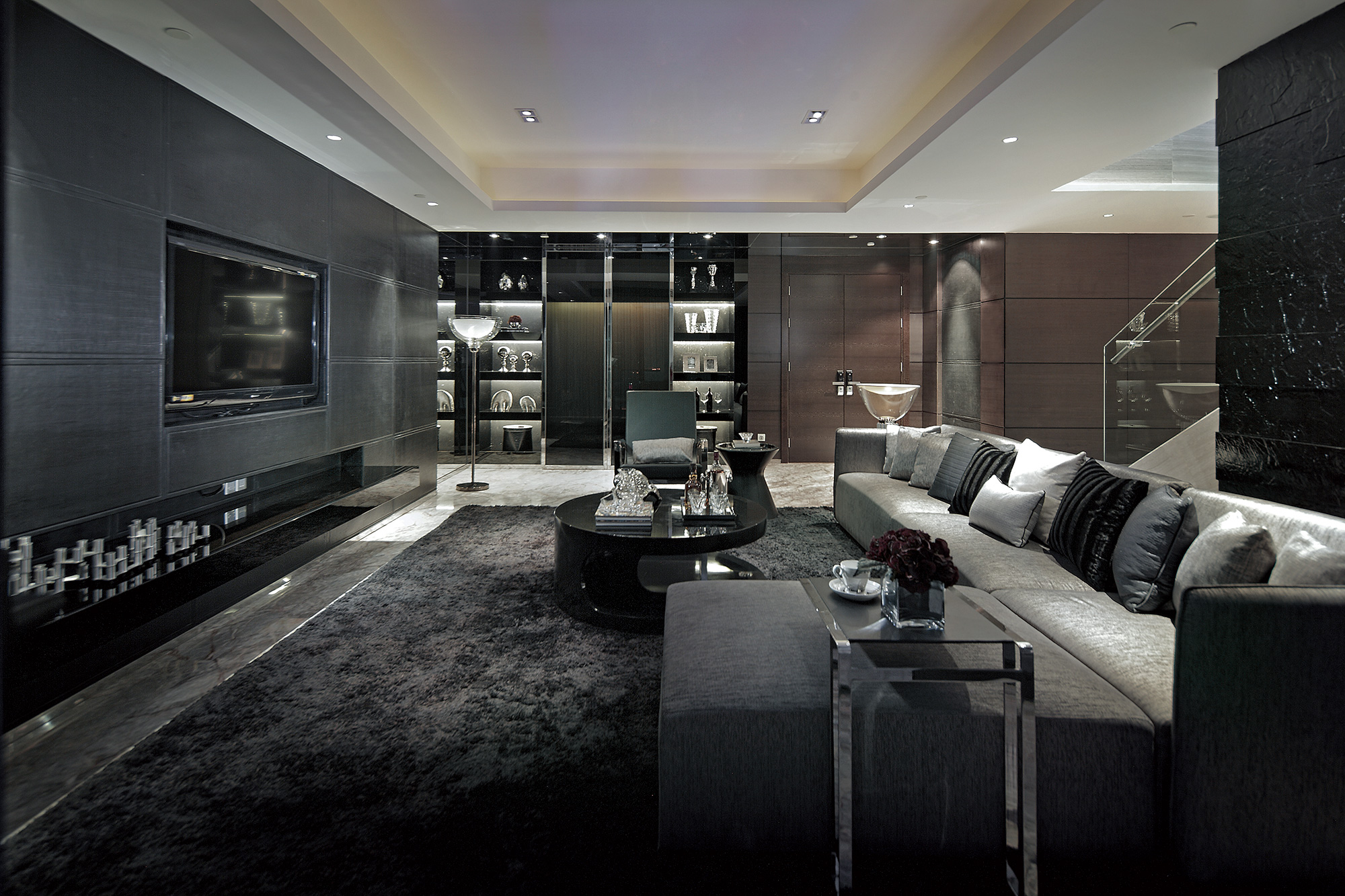 Dark Gray Living Room Design Ideas Luxury. Envision Nine Luxurious Living  Room Design Ideas Dark