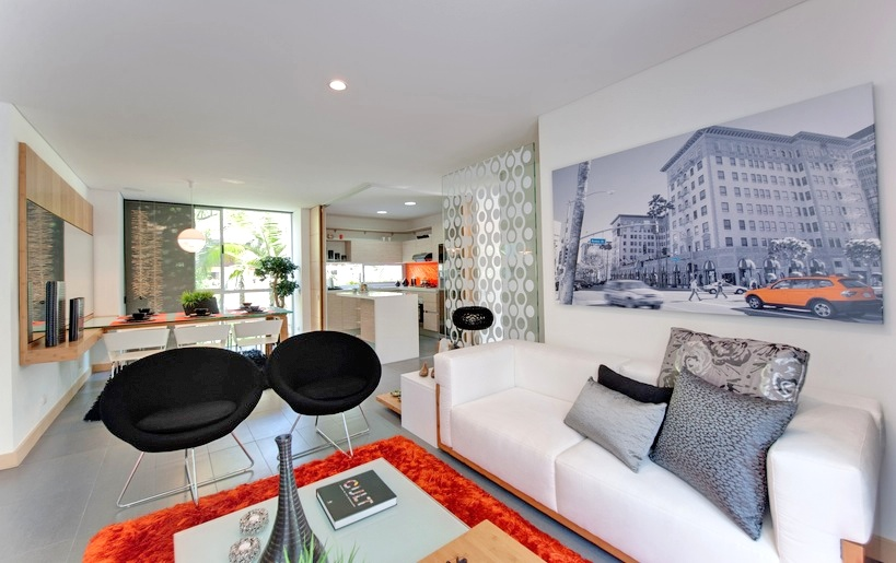 Orange apartment decorating ideas