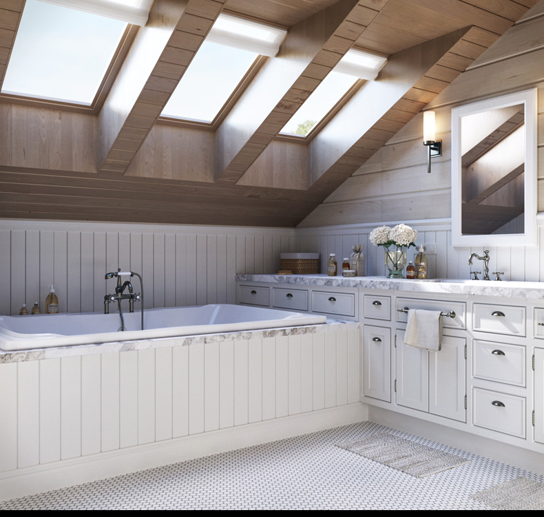 Attic bathroom design ideas