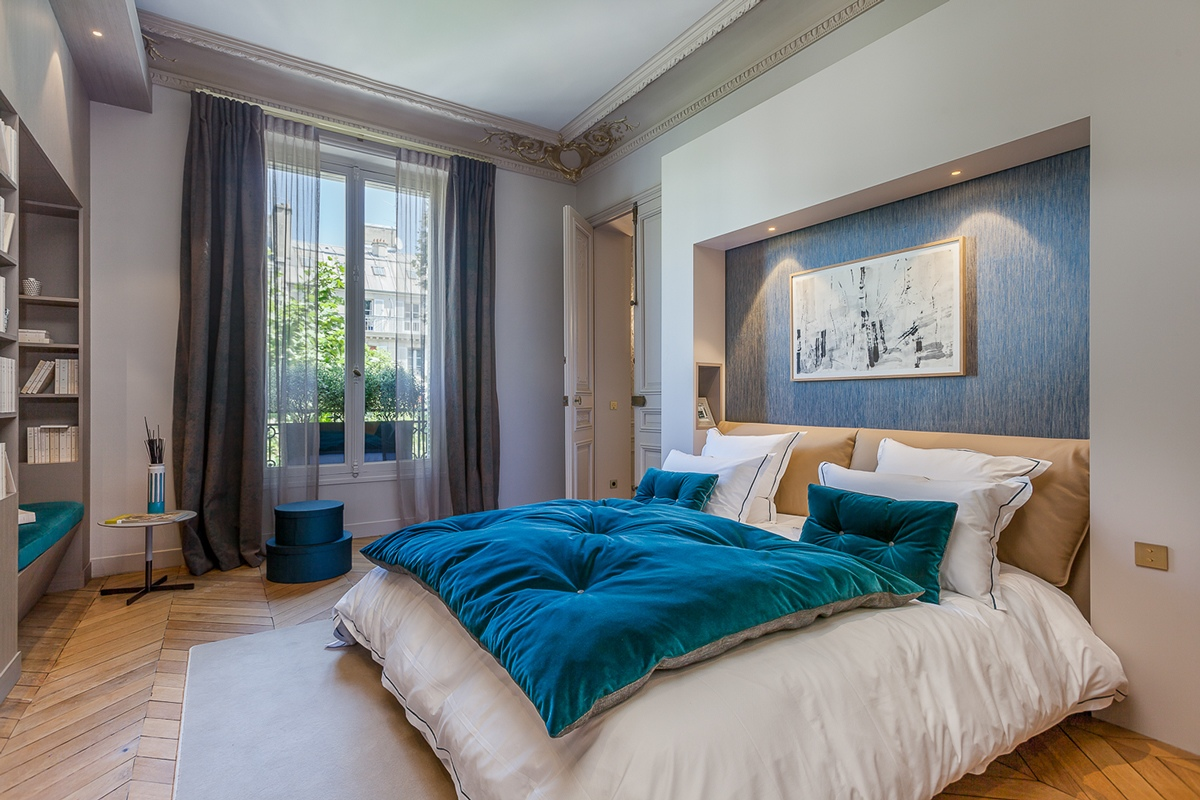 Parisian Bedroom Modern Luxury Apartment Interior Design By Mathieu Fiol Roohome