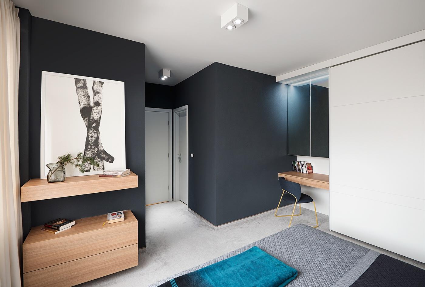 Minimalist apartment design With Simple Wooden Interior ...