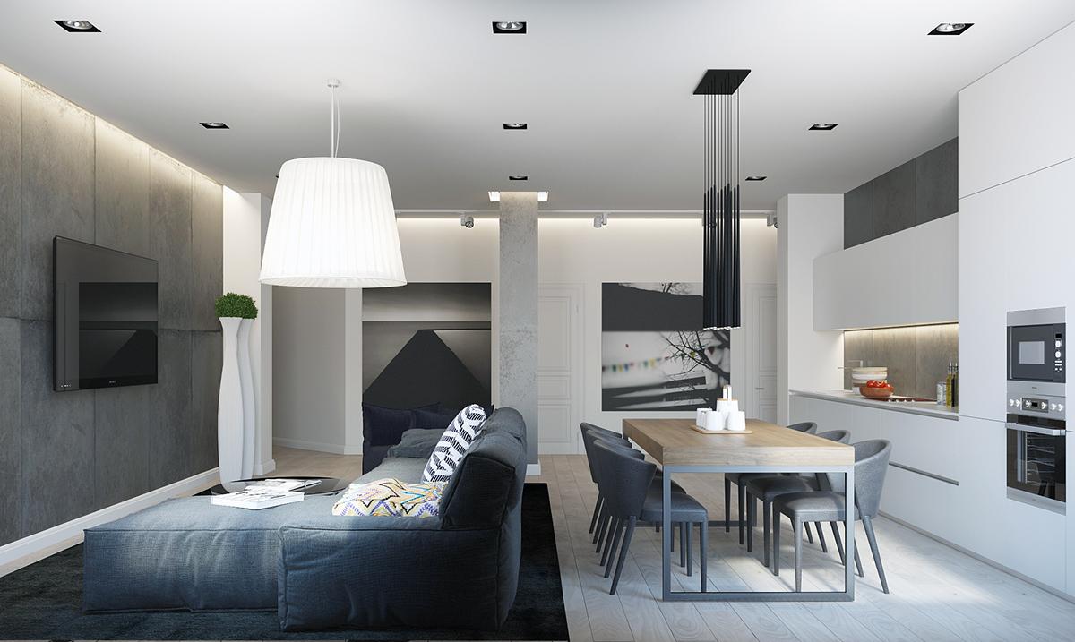Open plan apartment design ideas