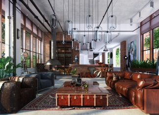 Loft living room design ideas