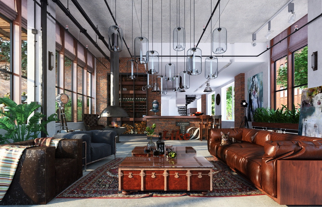 Loft living room decorating ideas for men and woman for Living room loft ideas