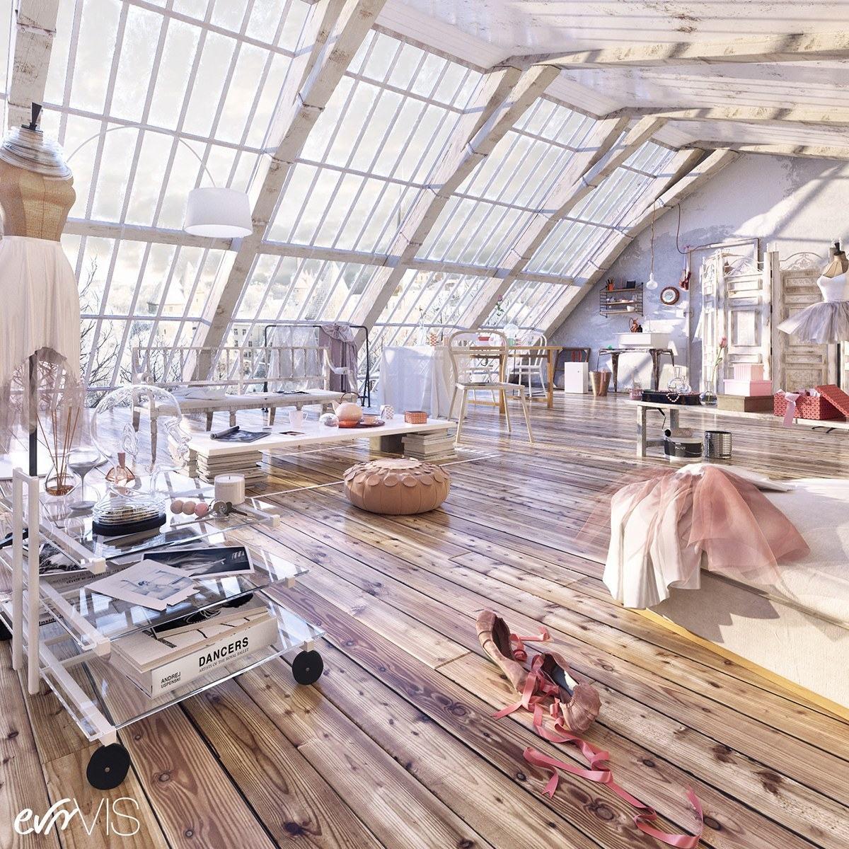 Loft apartmnet decorating ideas