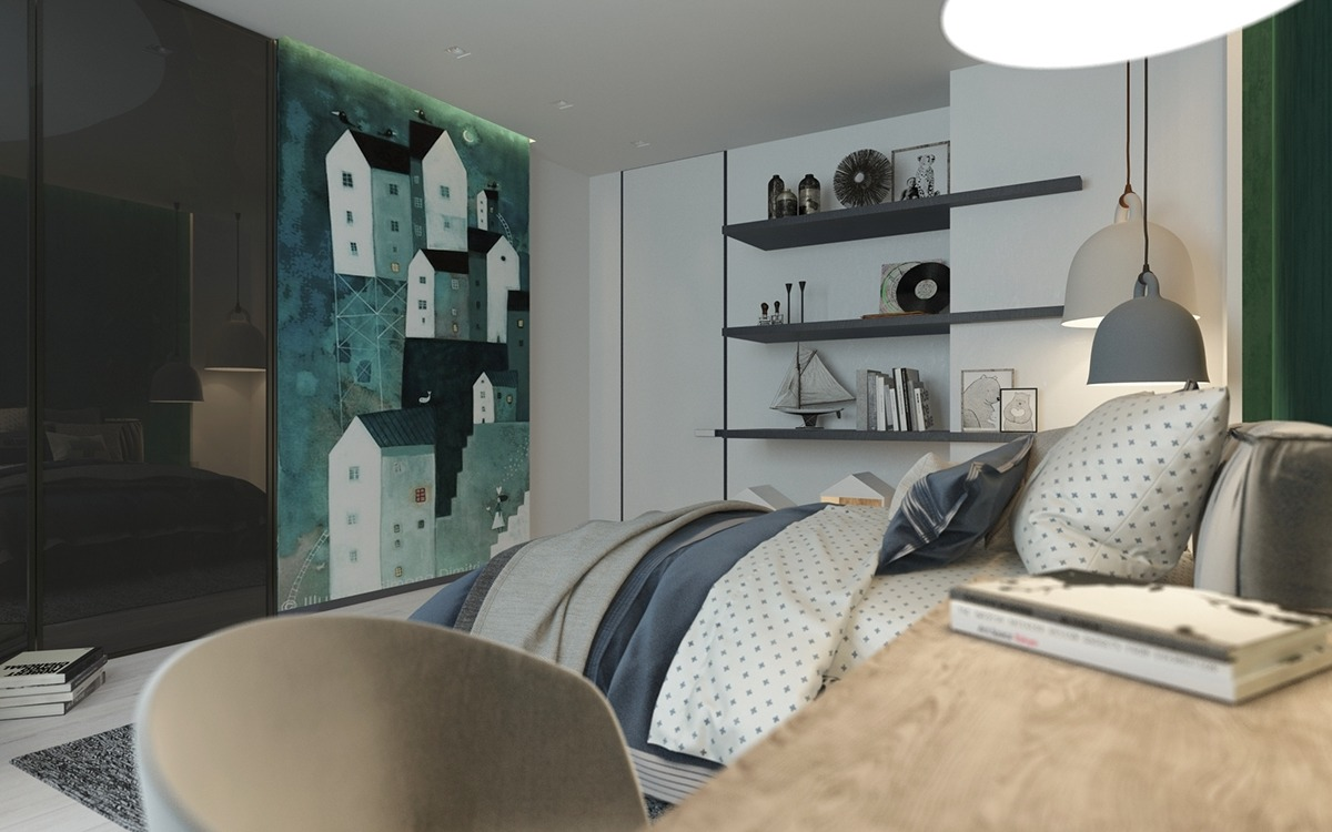Green bedroom decorating ideas for teenage