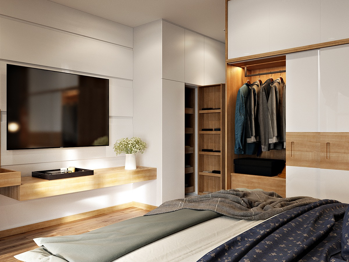3 contemporary bedroom themes with beautiful wardrobe for Beautiful contemporary bedrooms