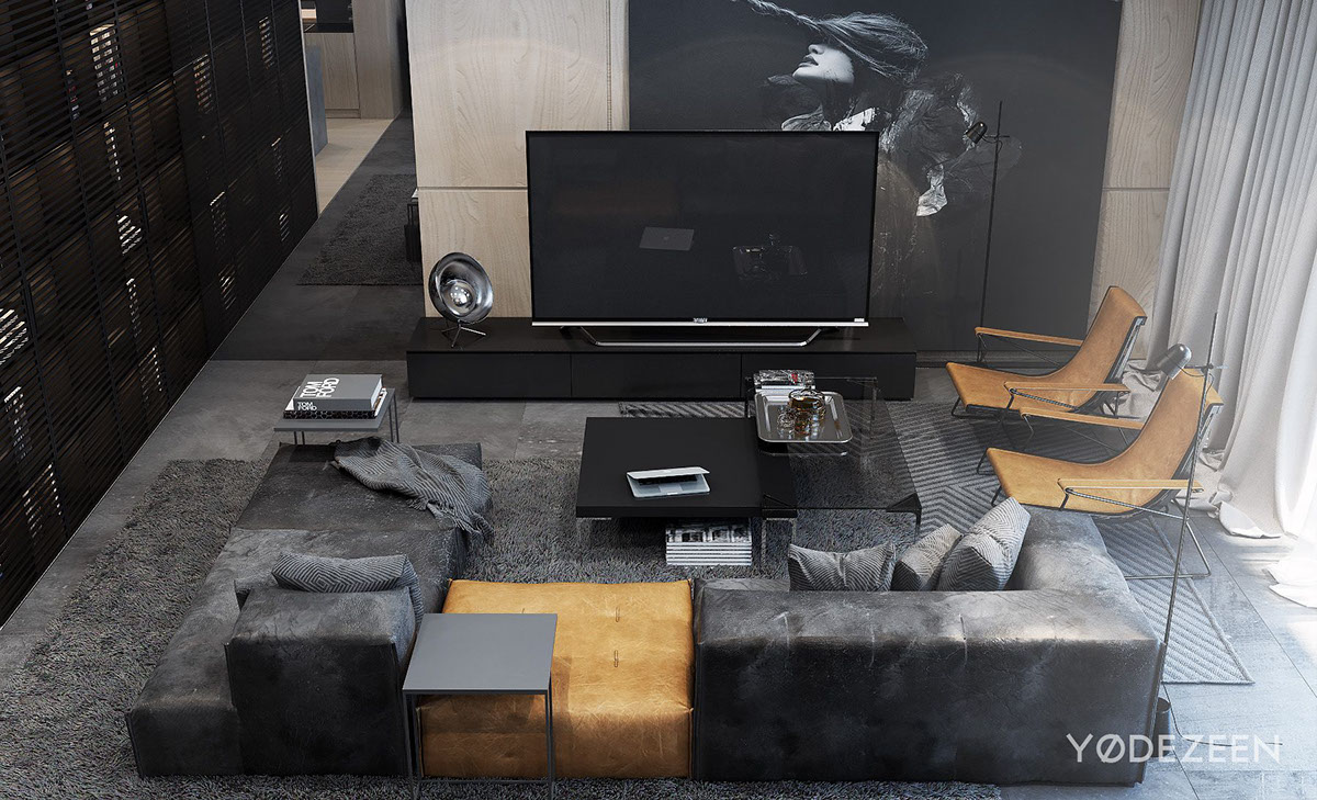 Dark Apartment Living Room dark apartment design style, theme, and ideasyØ dezeen