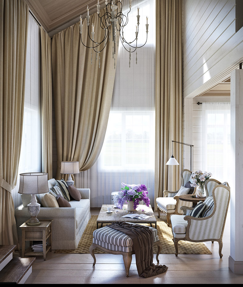 Provence apartment interior design style by denis svirid for Interior designs by ria
