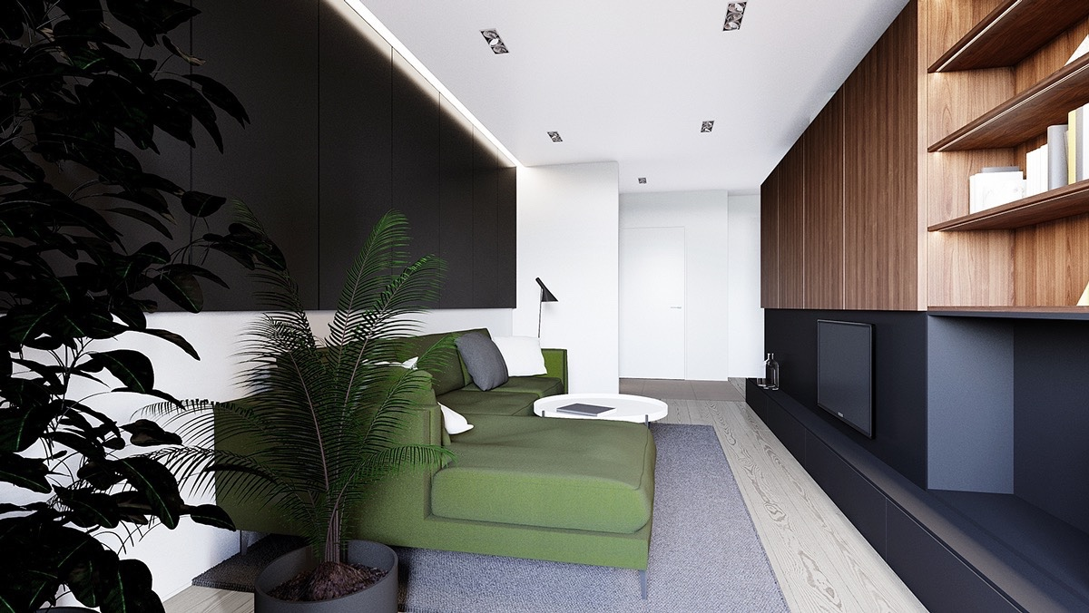 Small Apartment Ideas With Beautiful Wood Interior Design Styles