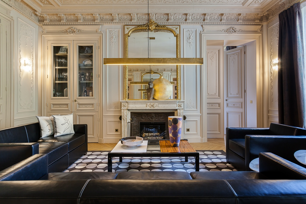 Modern luxury apartment interior design by mathieu fiol - Parisian interior design style ...