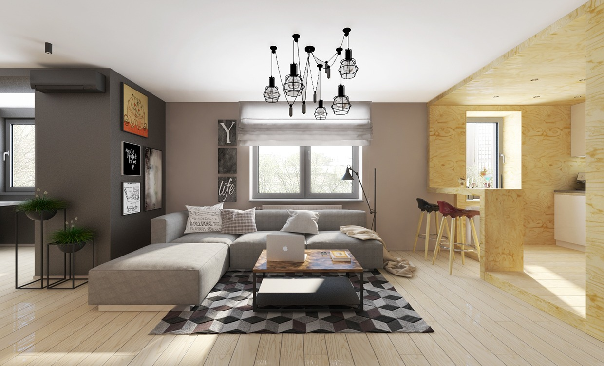 Gray apartment design