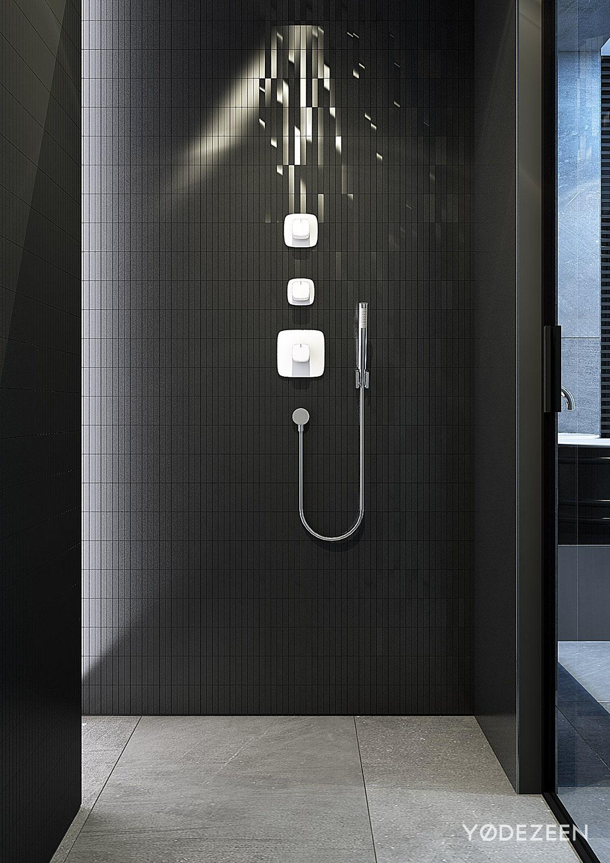 Dark bathroom design style