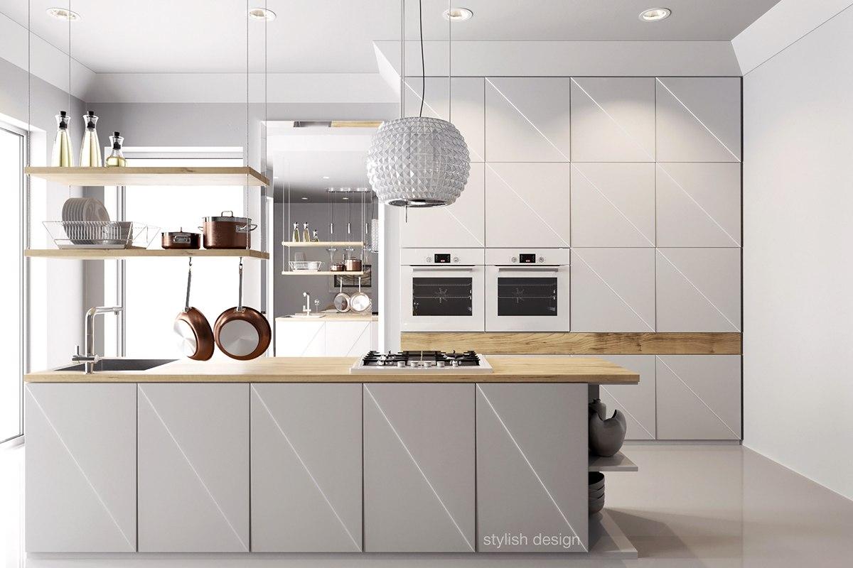 Modern White Kitchen Design