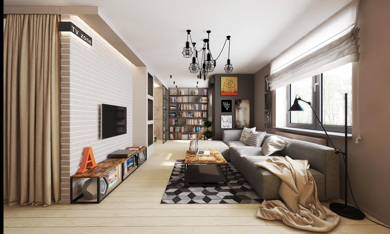Sergey Procopchuk Gray Apartment Interior Design