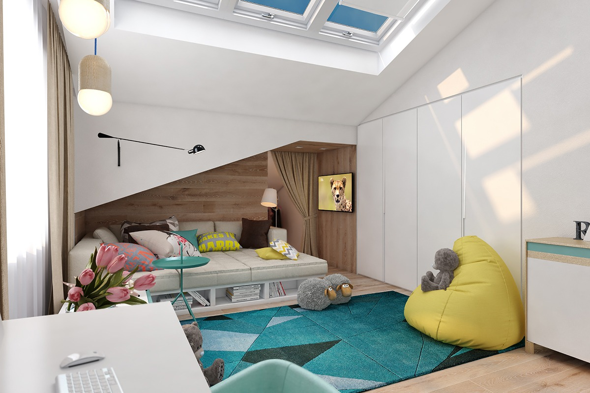 colorful bedroom paint ideas for energetic kids roohome